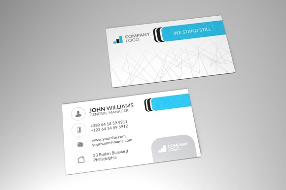 corporate business card vol4 business card templates creative market - Business Card Manager