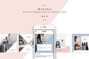 MALINA Social Media Pack & 20Pattern