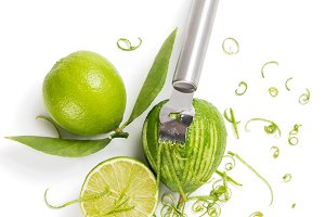 Lime fruit and zest.