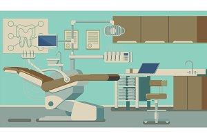 Dentist Office vector illustrations