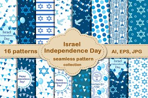 Israel Independence Day pattern set