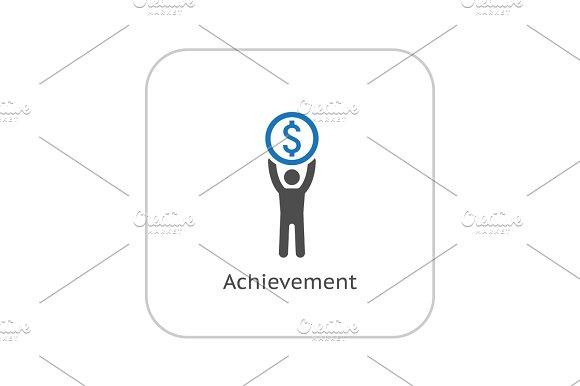 Achievement Icon Business Concept Flat Design