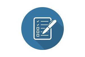 Check List Icon. Business Concept. Flat Design.