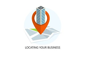 Location Icon. Locating Your Business.