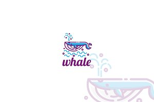 Whale Logo Template