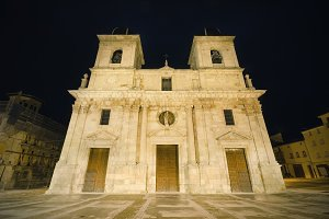 15th century church at night