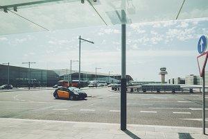 Taxi near airport terminal