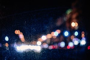 Blurred night city lights