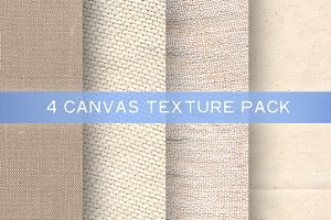 4 Canvas Texture Pack
