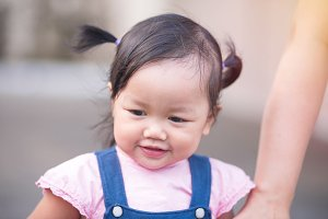 Portrait of little baby girl
