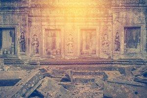 Prasat Bayon Khmer temple at Angkor