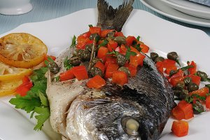 Dorado with vegetables