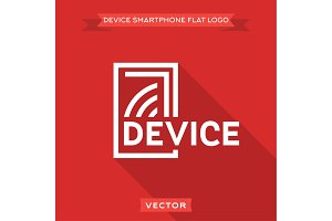 Smartphone flat circuit device logo icon vector design