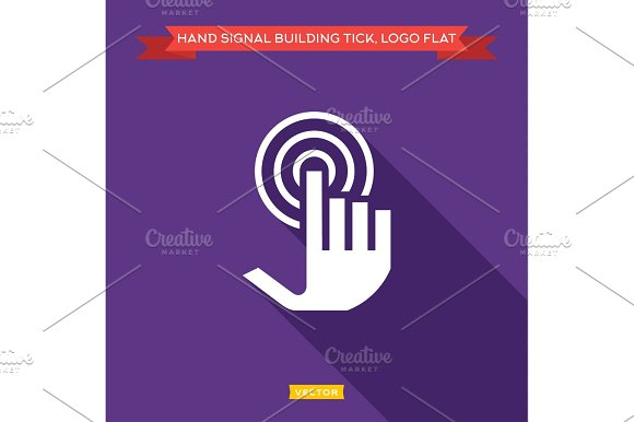 Hand Tick Presses And Receives The Signal As An Antenna Wave Flat Strong Vector Logtip