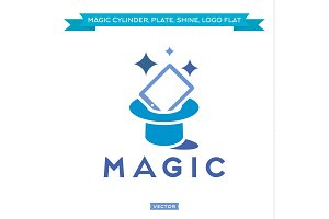 Magic Tablet from Cylinder, everything sparkles Trend vector Logo