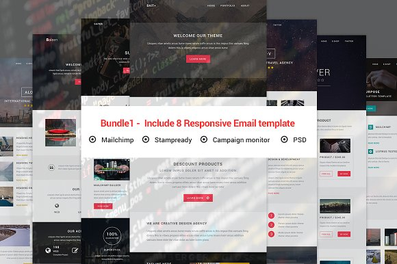 Bundle1 Include 8 Responsive Email