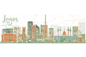 Abstract Lagos Skyline