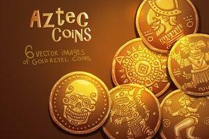 Vector aztec coins bundle