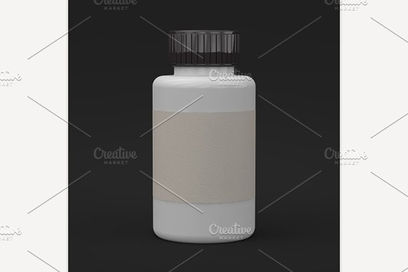 Template of plastic jar in Graphics