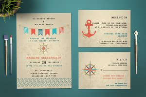 Maritime Wedding Invitation Set
