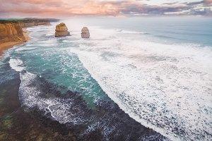 Aerial view of 12 Apostles Australia