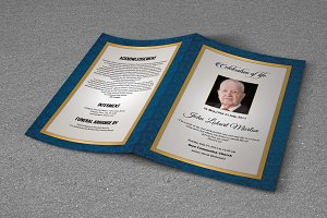 Funeral Program Template-T674