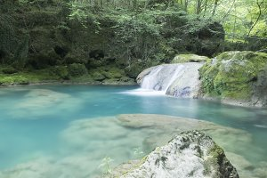 Natural pool river
