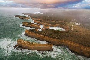 12 Apostles aerial view, Australia