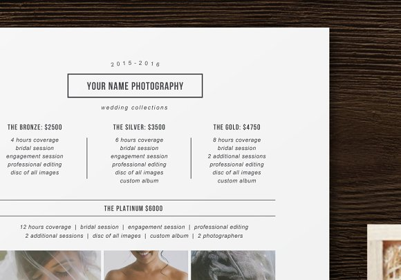 minimal price list template flyer templates creative market