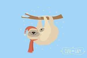 Cute sloth couple