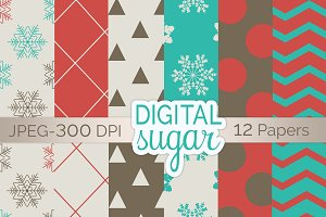 Christmas Digital Paper Pack
