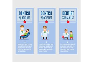 Dentist specialist flyers design