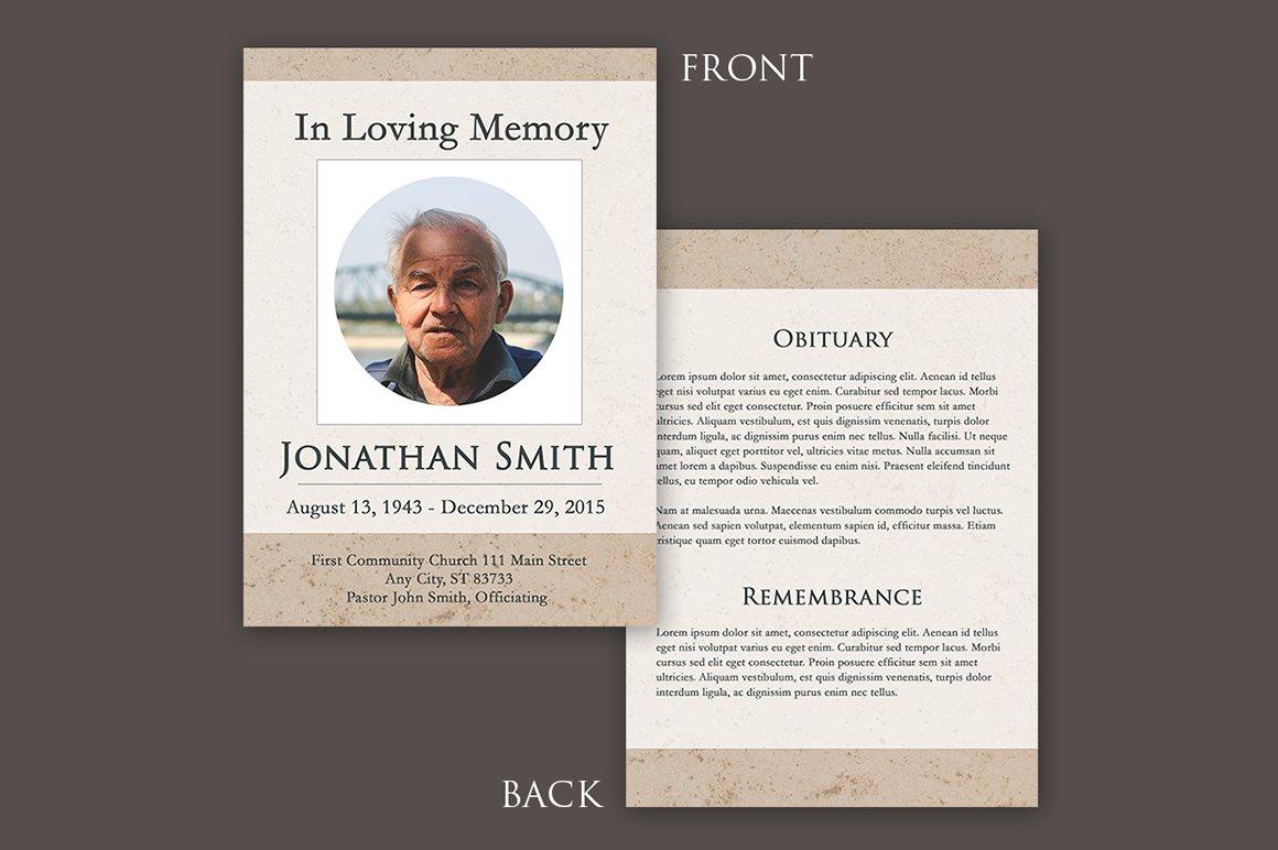 Funeral Program Template Square Brochure Templates on Creative – Template Funeral Program