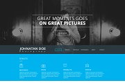 Photographer One Page Website PSD