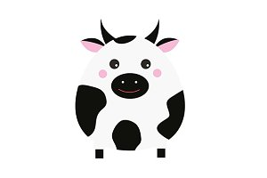 Cute cow icon jpg+eps