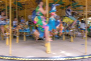 motion of Carousel Horse for child.