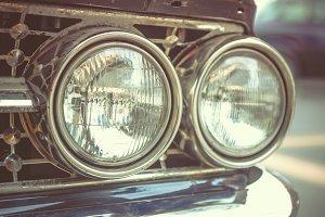 headlights on Classic car