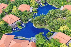Bird's eye view of swimming pool