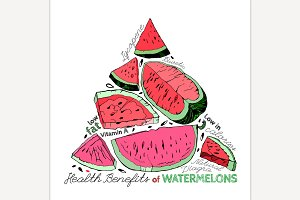 Hand Drawn Watermelon Image