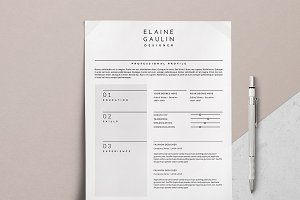 Simple Resume Design / Elaine