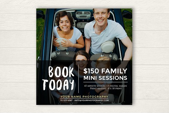Family Booking Ad Template