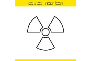 Radiation sign. Vector
