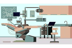 Dentist Office vector illustrations