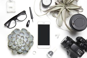 Styled blogger's desktop