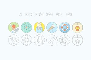 Digital Agency Flat Icons S4