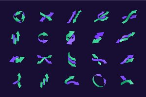 Isometric Arrow Icons