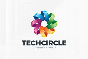 Tech Circle Logo Template