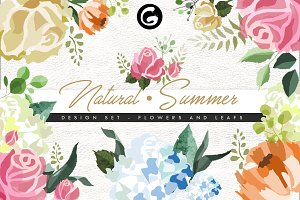 Natural Summer - Flowers Design Set