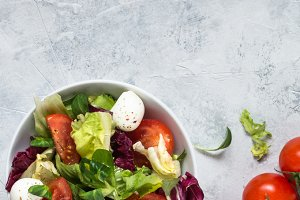 Fresh salad in a bowl.