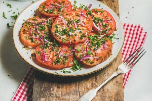Fresh heirloom tomato